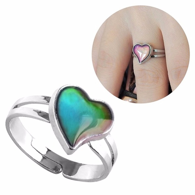 BAND Mood Ring Temperature Emotion Feeling Rings Mood Color Changing Adjustable