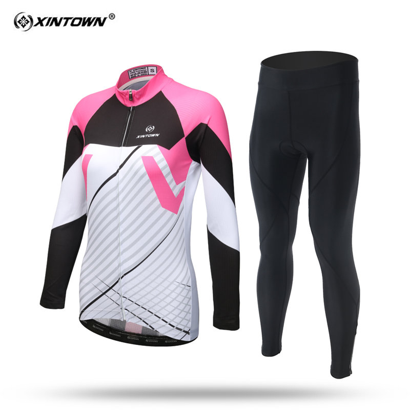 XINTOWN Summer Long Sleeve Cycling Jersey Set W MTB Bike Clothing Bicycle Jerseys For Women Pro Road Clothes ...