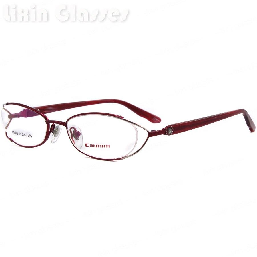 ▻Nuevas mujeres de la alta calidad Acero inoxidable rojo lente ...