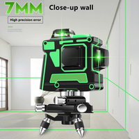 3d 12 linhas de nível laser feixe verde com suporte de parede auto-nivelamento 360 horizontal e vertical cruz super poderoso nivel laser