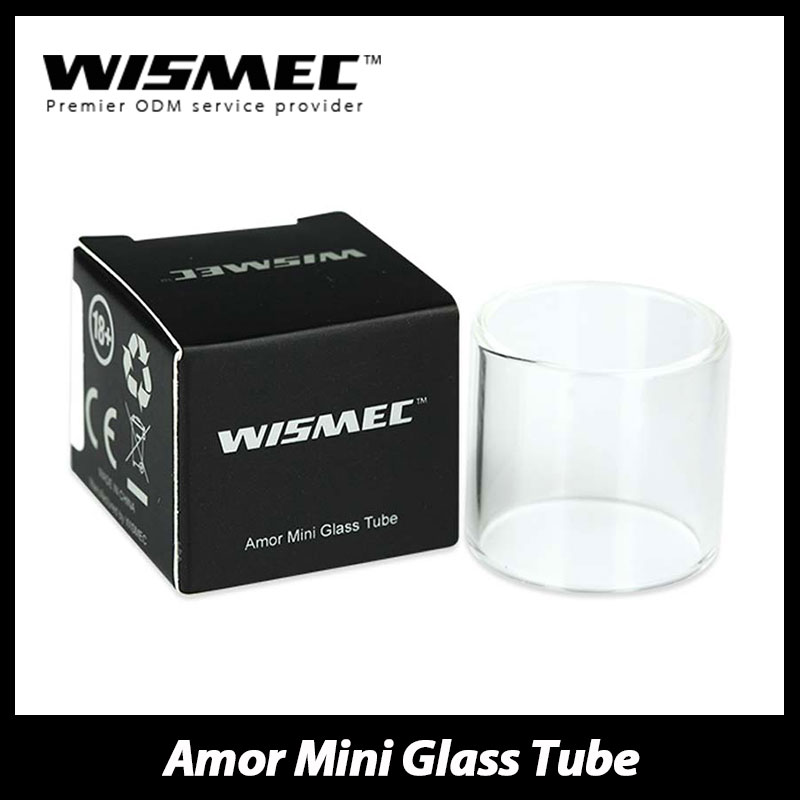 100% Original Wismec Amor Mini Replacement Pyrex Glass Tube Spare Part for Amor Mini 2ml Tank Atomizer & Reuleaux RX75 Kit