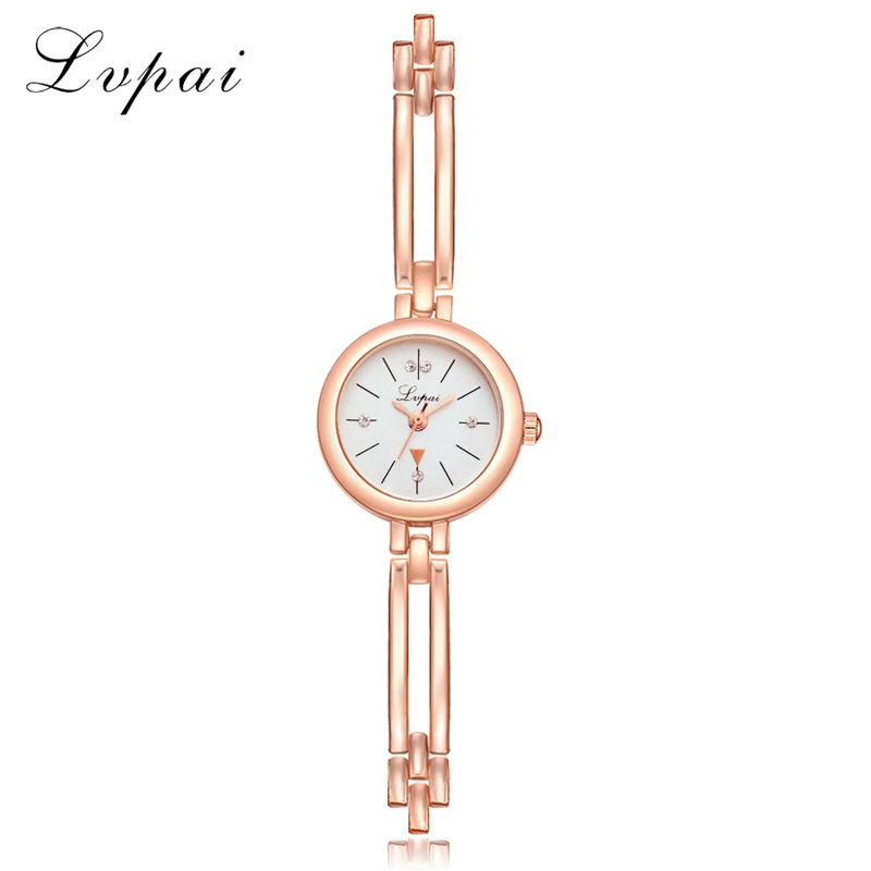 Lvpai Brand 2017 New Arrive Women Fashion Luxury Watch Rose Gold Ladies Wristwatch Small And Exquisite Dress Quartz Watch LP184 xiniu college wind women s shoulder bag backpack travel leather school rucksack women mochila feminina good quality sac a dos y