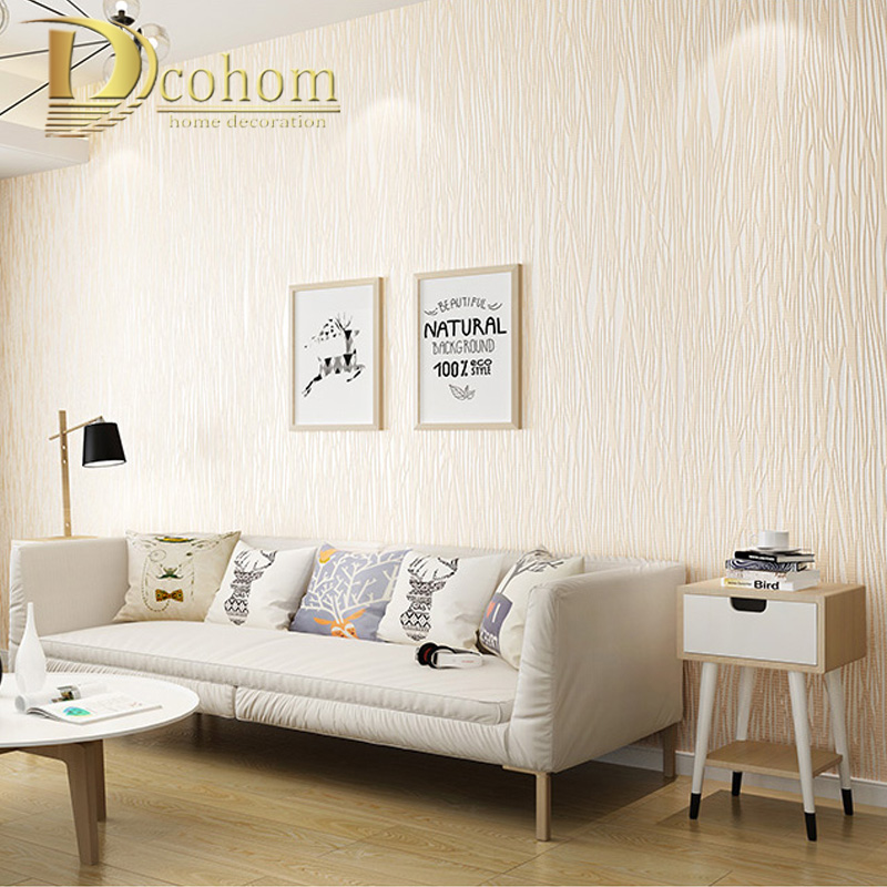 Special Price 3d White Beige Modern Simple Wall Paper Solid