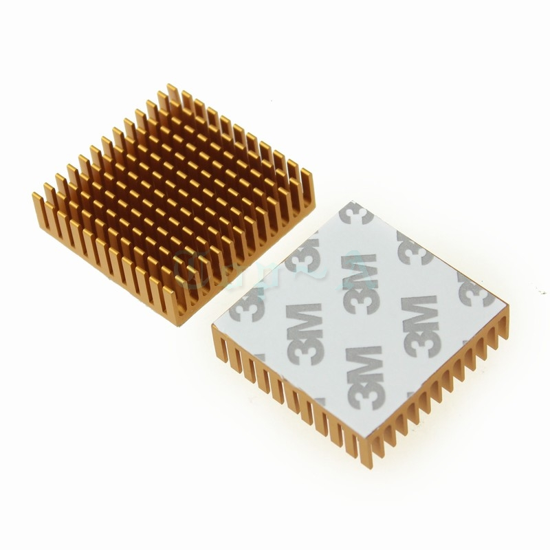 Gdstime 10 pcs Aluminum Heatsink 40mm x 11mm Cooling Fan Heat sink Radiator for LED Power Memory Chip IC Transistor 40X40X11mm