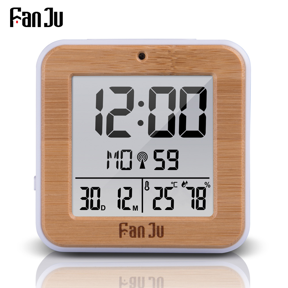 FanJu FJ3533 Digital Alarm Clock LED Temperature Humidity Dual Alarm Auto Backlight Snooze Date thermometer Desktop Table Clock