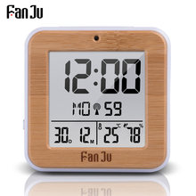 FanJu FJ3533 Digital Alarm Clock LED Temperature Humidity Dual Alarm Auto Backlight Snooze Date thermometer Desktop Table Clock(China)