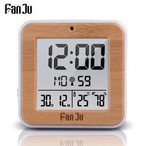 Image 1 - FanJu FJ3533 Digital Alarm Clock LED Temperature Humidity Dual Alarm Auto Backlight Snooze Date thermometer Desktop Table Clock