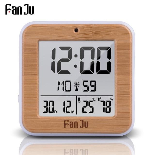 FanJu FJ3533 Digital Alarm Clock LED Temperature Humidity Dual Alarm Auto Backlight Snooze Date thermometer Desktop Table Clock