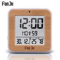 Fanju FJ3533 Digitale Wekker met Temperatuur en Vochtigheid Dual Alarm Batterij Operated Backlight Snooze Datum Multifunctionele