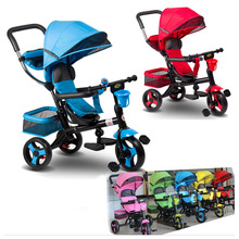 Многоцелевой детский ручной трехколесный велосипед с ручкой 4 в 1 детская коляска велосипед детская коляска с 3 колесами детский Трайк