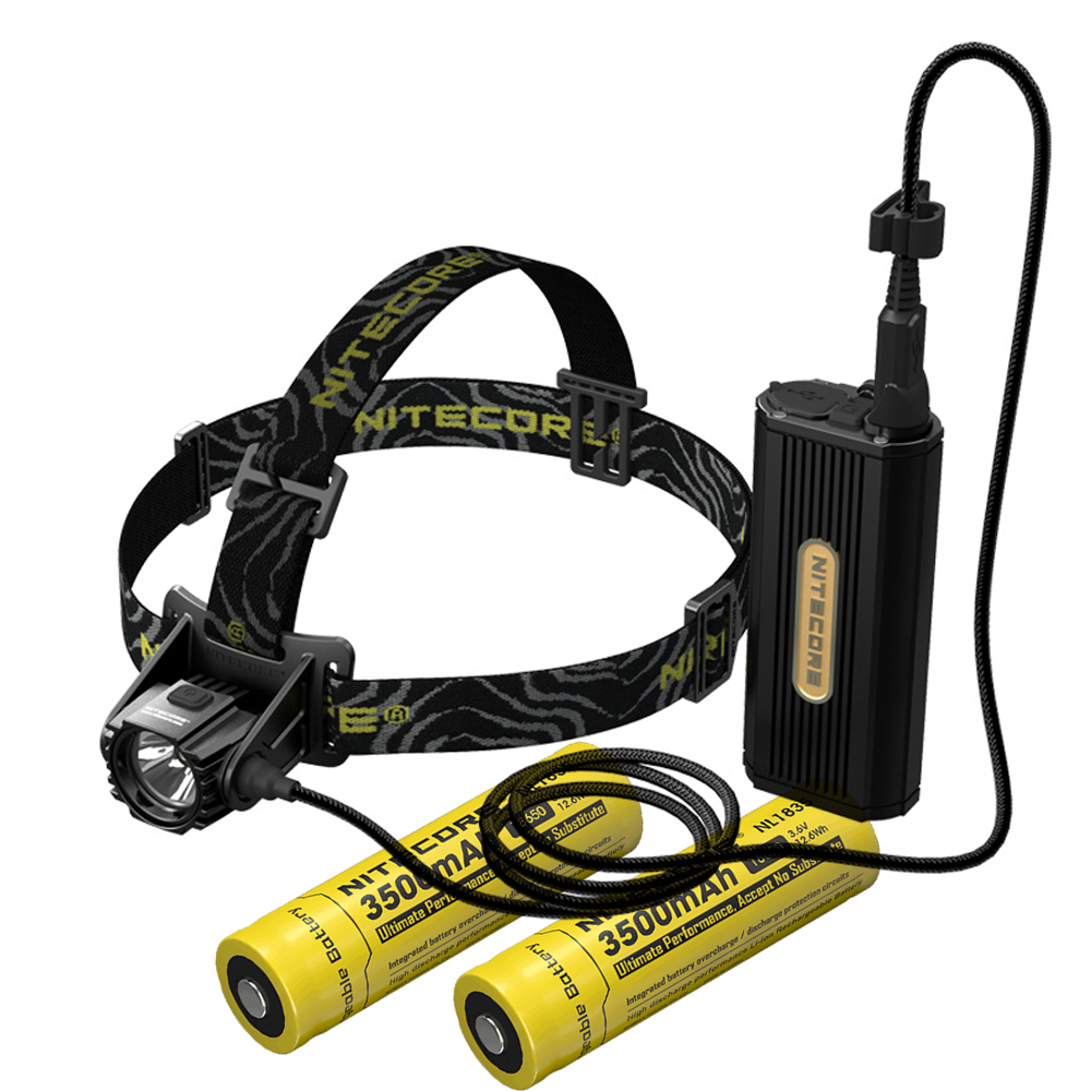 NITECORE HC70 Projecteur CREE XM-L2 U2 1000 lumens rechargeable phare étanche + 2 pcs * 18650 batteries LI-ion