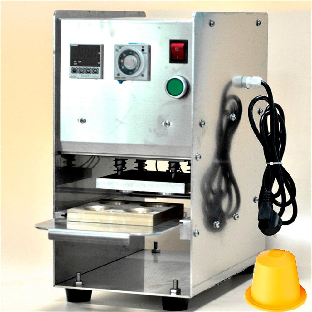 Machine manuelle Semi automatique de soudure à chaud pour le couvercle de papier d'aluminium de soudure à chaud Compatible avec les Capsules de café en plastique de Nespresso