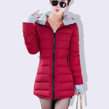 Plus Size Wadded Clothing Mujer 2018 New Women's Winter Jacket Cotton Jacket Slim con capucha Parkas Ladies Coats