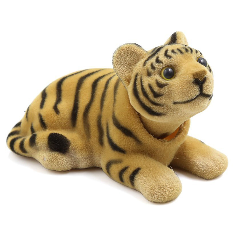 Car Bobbing Head Tiger Shape Nodding Dog Decor