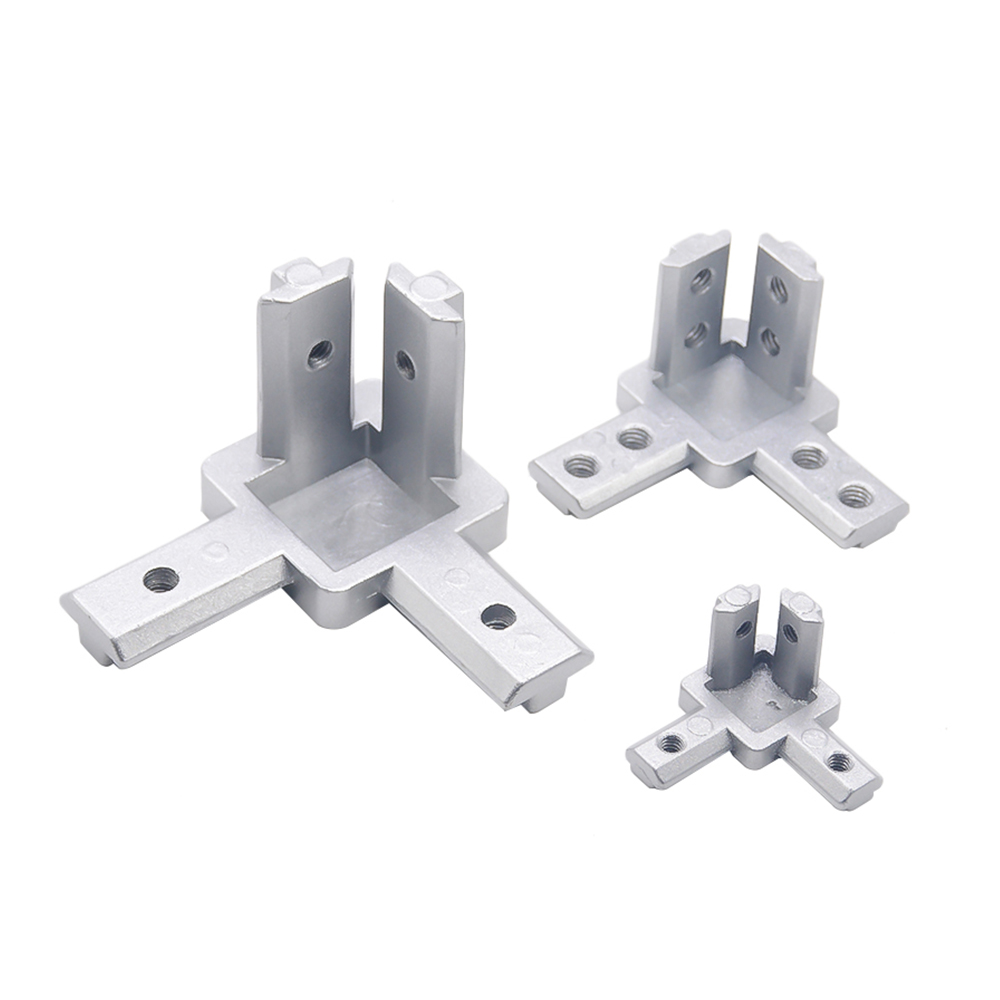 HOT Sale L Type 3-dimensional Bracket 2020 Concealed 3-way Corner Connector EU Standard 20/30/40 Series Aluminum Profile Parts