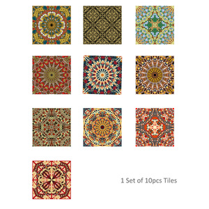 Image 5 - Funlife Islamic Arab Style Tile Sticker Decal,Adhesive Kitchen Backsplash Tiles Wall Stickers,Waterproof Bathroom Decor Stickers