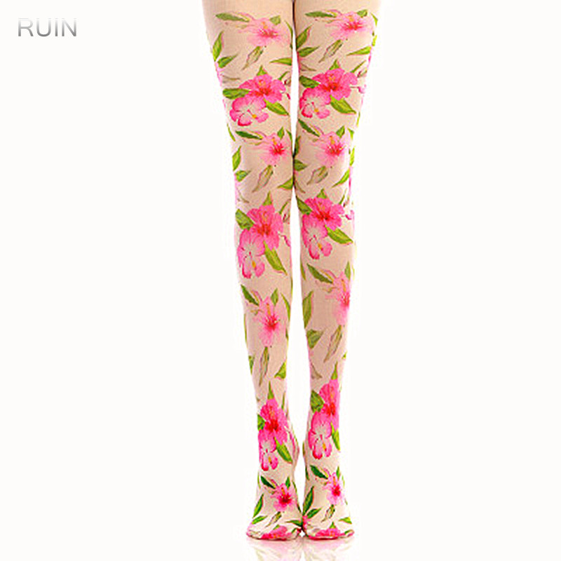 RUIN 2017 WINTER 15 WOMENS TIGHTS Classic geometric pattern pantyhose GIRL TIGHTS