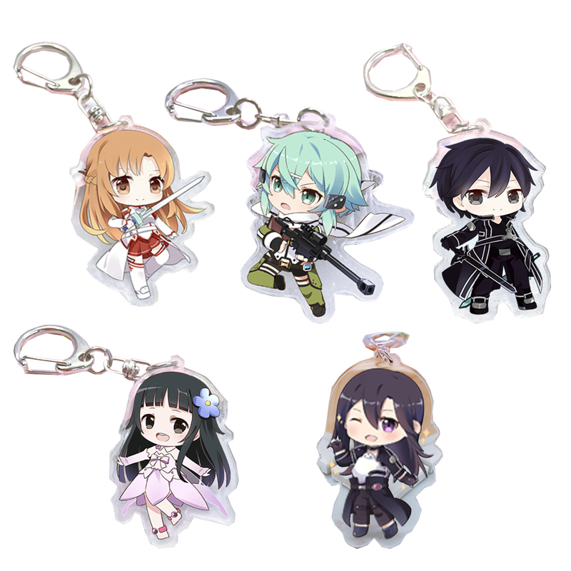 Hot Anime Sword Art Online Yuuki Asuna Acrylic Key Ring Pendant Keychain Gift