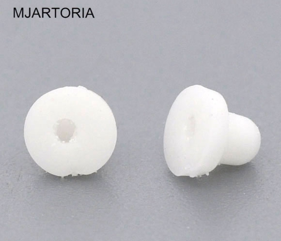 MJARTORIA New 2500 Rubber Pads for Clip-On Earrings Findings Components DIY Accessories Earring Jewelry Making 6x5mm