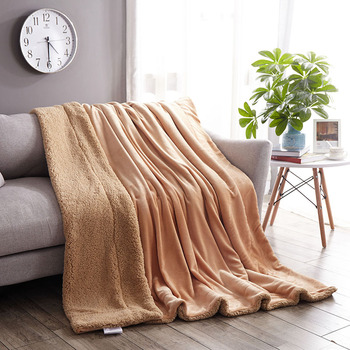 Winter thickened office nap cover legs pure lamb velvet blanket adult throws lid soft fluffy warm   comfortable cover bedding