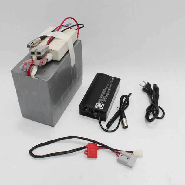 ConhisMotor 36V 40AH LiFePO4 Battery with BMS  5A Fast Charger for Ebike/Electric Bicycle / Scooter/WheelChair