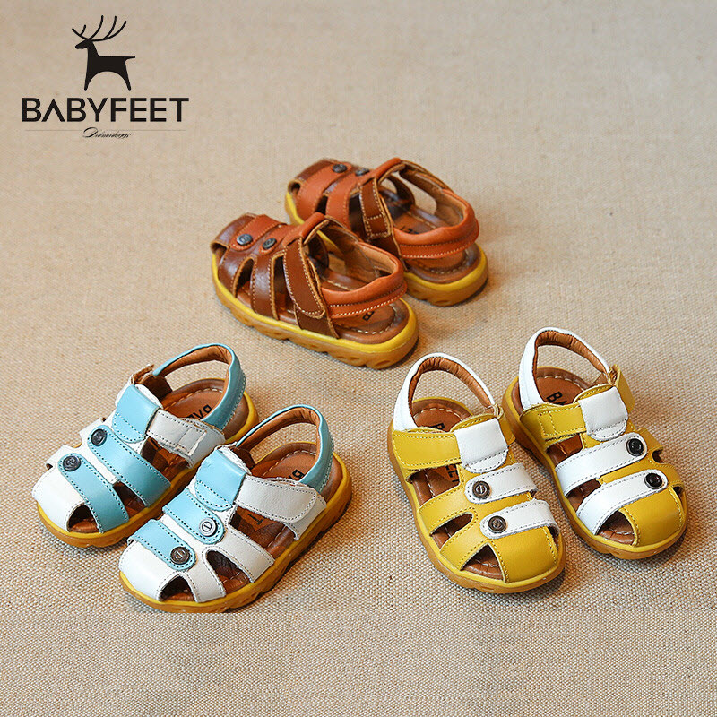 Babyfeet Sandals baby boys sandals Leather Sandals children shoes infantil toddler shoes non-slip 1y-3y boy beach shoes 21-25 babyfeet newborn baby boy shoes toddler sandals leather non slip kids shoes 0 1 years old boy girl children infant infantile