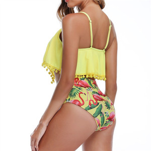 Image 5 - Plus Size Bikini Swimwear High Waisted 2020 Swimming Suit for Women Weist Tankini Swimsuit Large Swim Wear Push Up Bikinis xxl