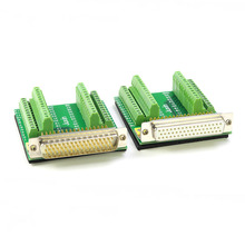 Bloco terminal fêmea masculino da placa do adaptador do conector do conector do cobre puro db50 solderless 50 pin