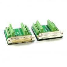 Cobre puro DB50 sin soldadura 50 pin conector macho hembra placa adaptadora del conector bloque de terminal