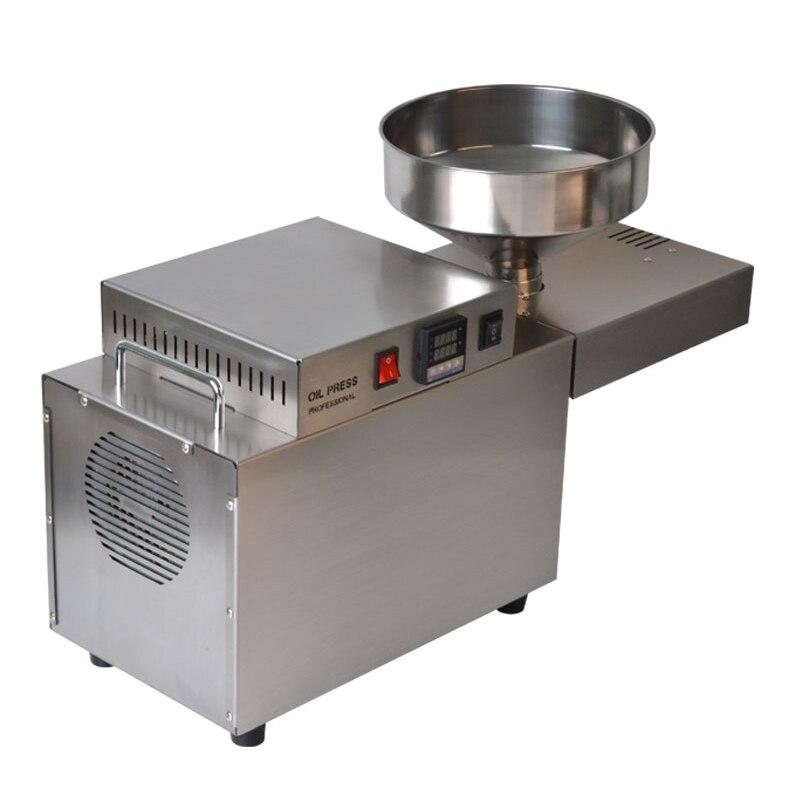 Machine de pressage d'huile Jamielin automatique de noix noir graine de sésame graines de chanvre tournesol maison d'arachide noix de coco presse à huile Machine