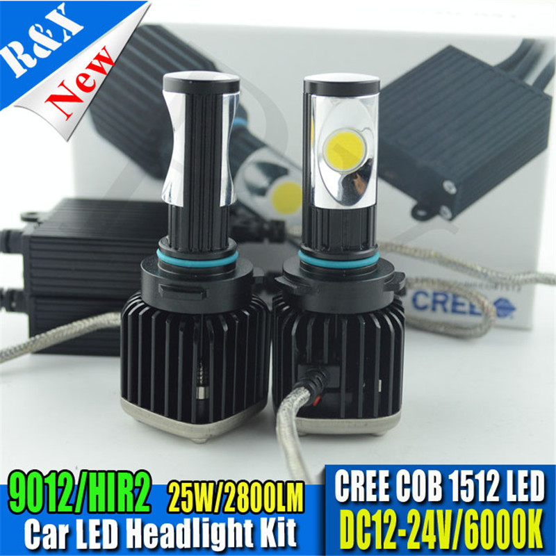 Super bright 2x50W 5600LM powerful 9012 Hir2 Canbus LED HeadLight kits 5500k White Bulb Car 12-24V LED Headlamp стоимость