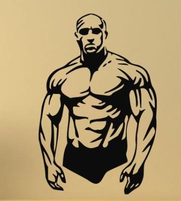 Fitness vinyl wall sticker body builder muscle man gym sport wall art sticker fitness centre wall