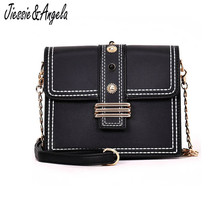 Jiessie & Angela Fashion Women Bags New Design Girls' Shoulder Bag Chain Strap Flap Brands Leather Handbags Vintage Small Bag