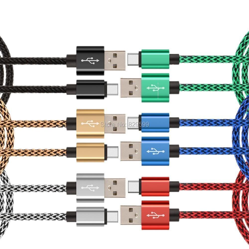 imágenes para 200 unids/lote 3 m 2 m 1 m el 10FT ast Cargador cable usb briaded Paquetes Accesorios para el iphone 5 5S 6 6 s para mini ipad ios 8 9