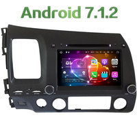 8 ''Android 7.1.2 2 GB RAM 4G Quad Core 2 din WIFI DAB + SWC Auto Dvd-speler Radio Stereo Voor Honda Civic 2006-2011 Acura CSX