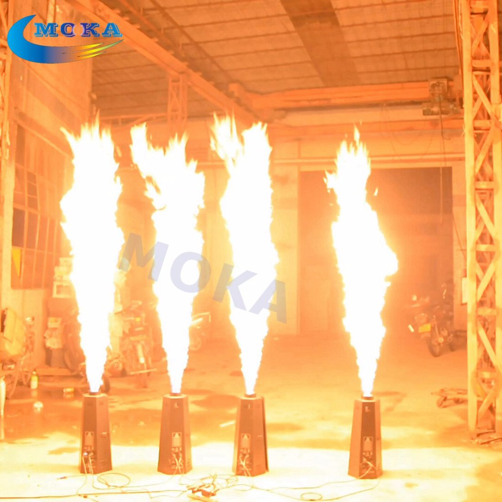 6pcs/lot 200W DMX Fire Machine Stage Flame Machine Stage Effect Equipment For DJ Party 600w snow machine flake spary snow machine for dj event wedding party stage equipment