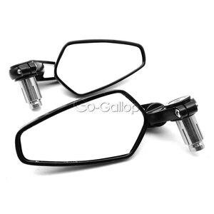 """Image 3 - 1 paio di specchi retrovisori laterali da 7/8 """"22mm universali in alluminio per moto con manubrio nero"""