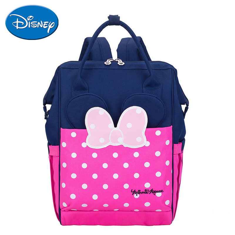 Disney Diaper Bag Backpack USB Bottle Insulation Bags Minnie Mickey Big Capacity Travel Oxford Feeding Baby Mummy Backpacks