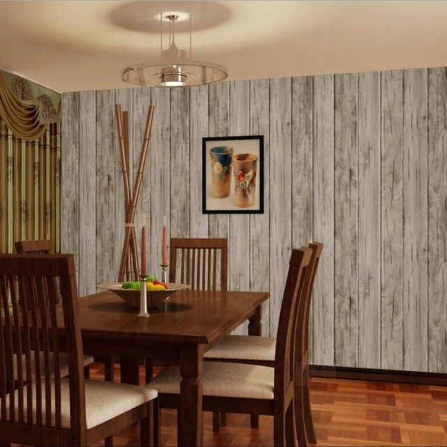 Beibehang Imitate Plank Wood Floor Do Old Striped 3d Wallpaper