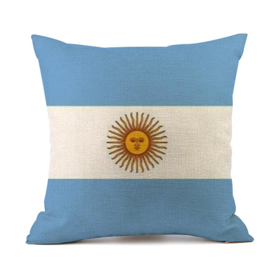 OUNEED Home Decor Pillow Digital Printing World Cup 32 National Cup Flag Pillow Case National flag Dropshiping jun25
