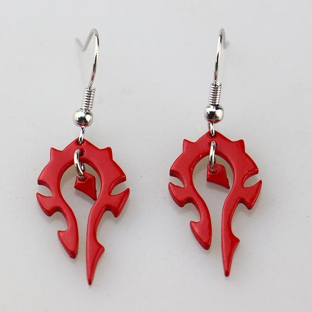 World of Warcraft Horde Drop Earrings