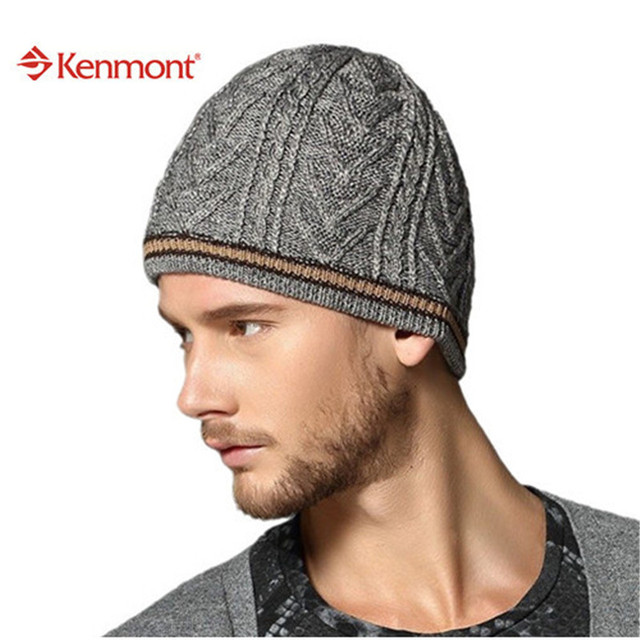3193a85e642151 Kenmont New Fashion Brand Winter Ski Handsome Sports Wool Knit Beanie Men  Hat For Holiday Gift 1177