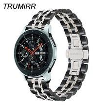 20mm 22mm ze stali nierdzewnej Watchband dla Samsung Galaxy zegarek 42mm 46mm SM R810/R800 opaska sportowa pasek szybkiego uwalniania opaska