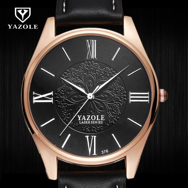 Luxury YAZOLE Roman Dial Relogio Masculino Water Resistant Fashion Casual Gold Silver Leather Quartz Watch Men Gift Men WatchesLuxury YAZOLE Roman Dial Relogio Masculino Water Resistant Fashion Casual Gold Silver Leather Quartz Watch Men Gift Men Watches