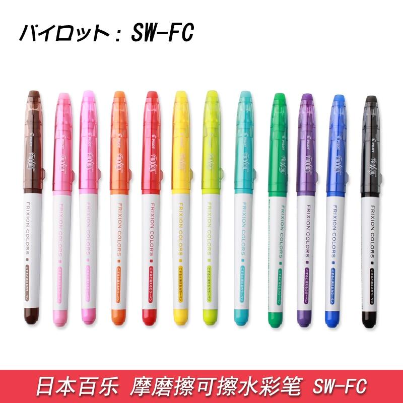 12X Erasable Marker pen Japan Pilot SW-FC / SFC-120M-12C FRIXION Erasable Pen 12 colors to choose FREE SHIPPING цены