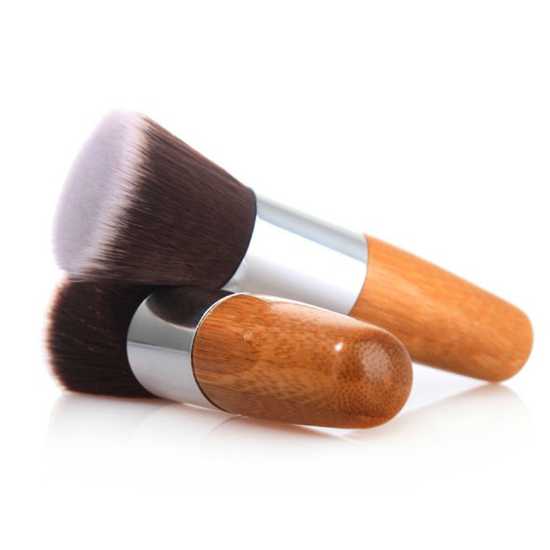 Professional Makeup Brushes Flat Top Brush Foundation Powder Blush Beauty Cosmetic Concealer Make up Artist Brush Tool Wooden цена и фото