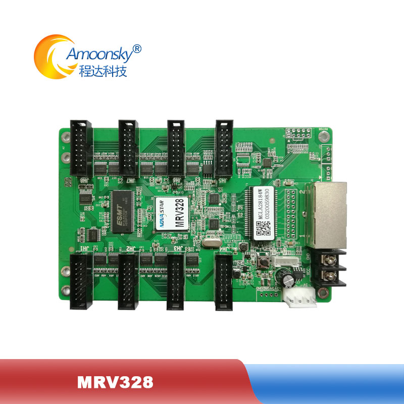 Full Color Rgb Led Display Novastar Mrv328 Led Receiving Card Replace Mrv308 Matching Nova Msd300 Led Control System