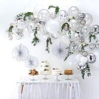 70 шт. 5 м серебристый воздушный шар арочный комплект День рождения Свадебные украшения для приемной фон Юбилейная Гирлянда для дня рождения ...