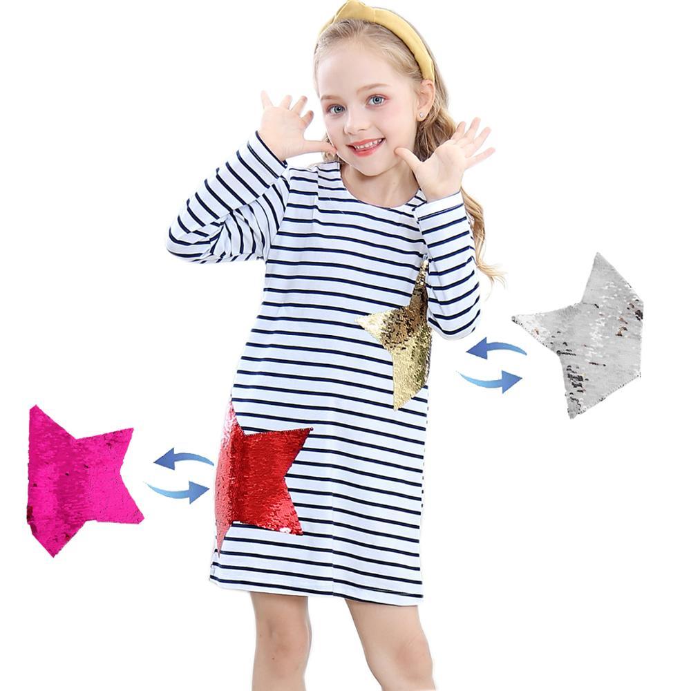 Sauteur mètres Robe Enfant en bas âge Robe Princesse Enfant tunique nouvelle licorne noël Vestido paillettes enfants robes pour filles vêtements