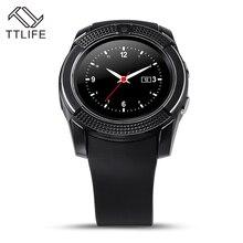 Original TTLIFE Marke V8 Sportuhr Vollbild Smart Uhr für Android Spiel Smartphone Unterstützung TF Sim-karte Smartwatch PK M6